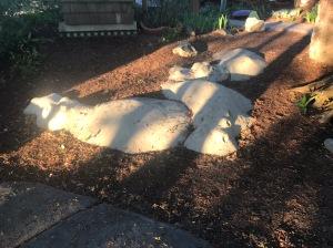 Hippos in the Healing Garden